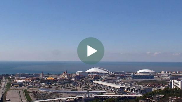 Сочи. Панорамная веб-камера с видом на Олимпийский парк
